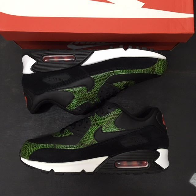 即決送料無料 26.5cm NIKE AIR MAX 90 QS PYTHON SNAKE GREEN CD0916-001 ナイキ エア マ