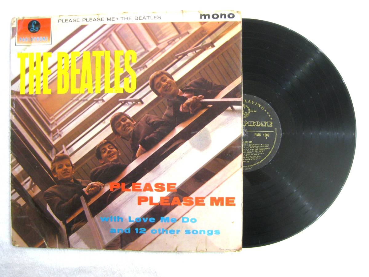■UK オリジナル 1st マト-1/-1 Gold Parlophone■THE BEATLES Please Please Me