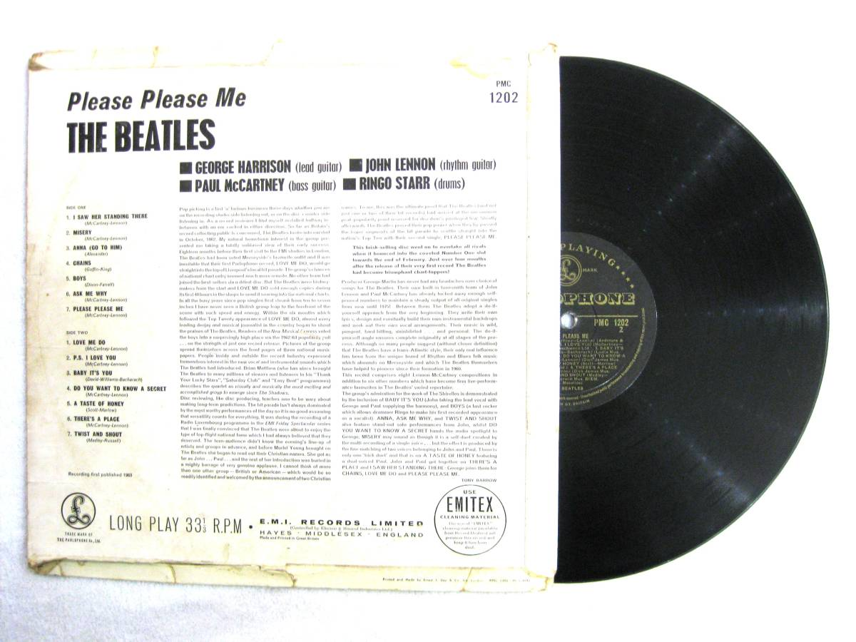 ■UK オリジナル 1st マト-1/-1 Gold Parlophone■THE BEATLES Please Please Me_画像2