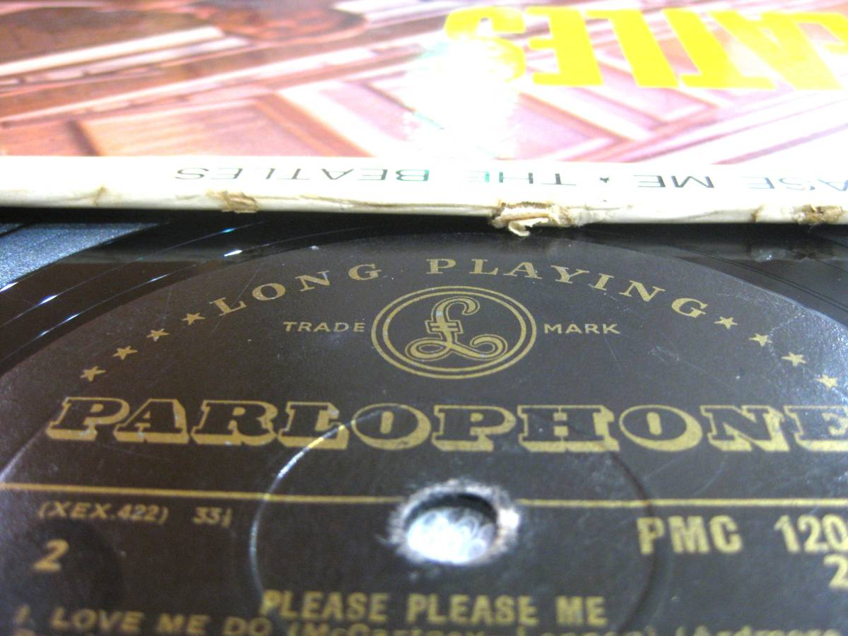■UK オリジナル 1st マト-1/-1 Gold Parlophone■THE BEATLES Please Please Me_画像3