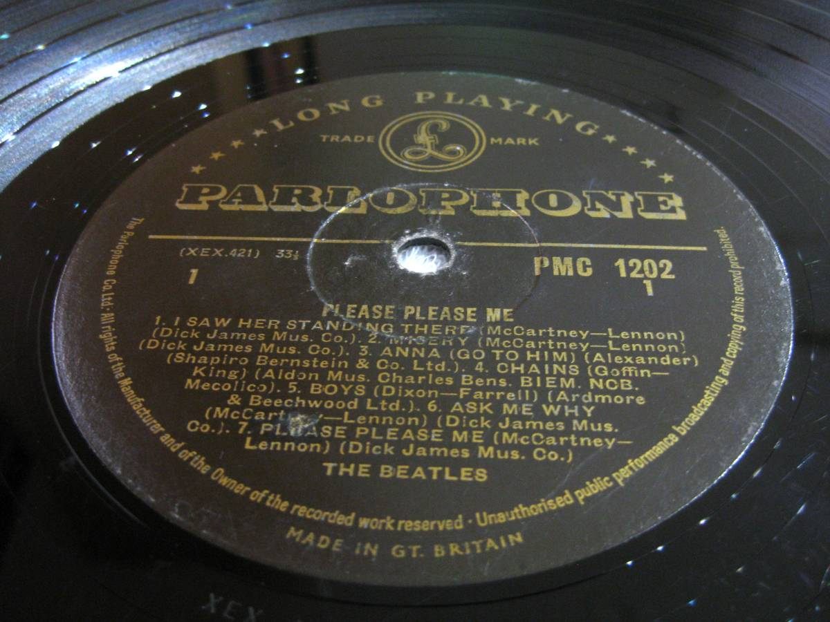 ■UK オリジナル 1st マト-1/-1 Gold Parlophone■THE BEATLES Please Please Me_画像7