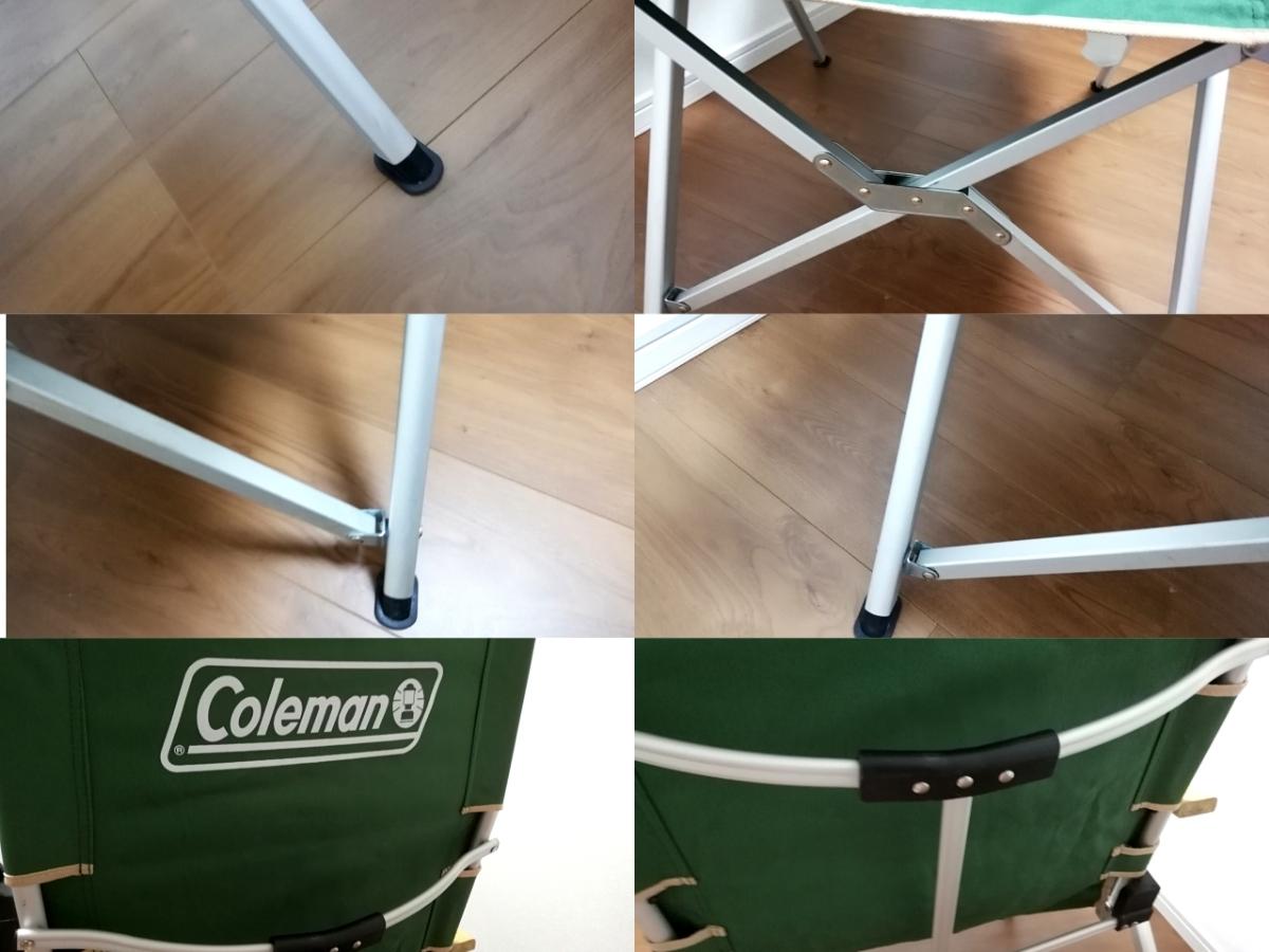 豪華2点セット コールマン レイチェア 赤 緑 3段階リクライニング式_画像10