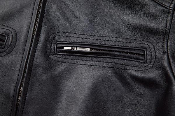 シープスキン スタンダードスタイル シングルライダース レザージャケット ブラック Mサイズ(36) イタリアンレザー ラム 羊革_画像6