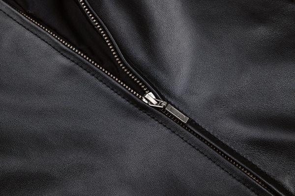 シープスキン スタンダードスタイル シングルライダース レザージャケット ブラック Mサイズ(36) イタリアンレザー ラム 羊革_画像7