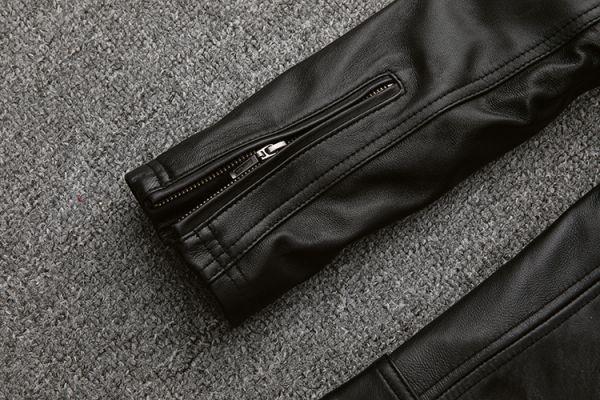 シープスキン スタンダードスタイル シングルライダース レザージャケット ブラック Mサイズ(36) イタリアンレザー ラム 羊革_画像10