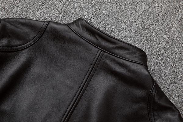 シープスキン スタンダードスタイル シングルライダース レザージャケット ブラック Mサイズ(36) イタリアンレザー ラム 羊革_画像9