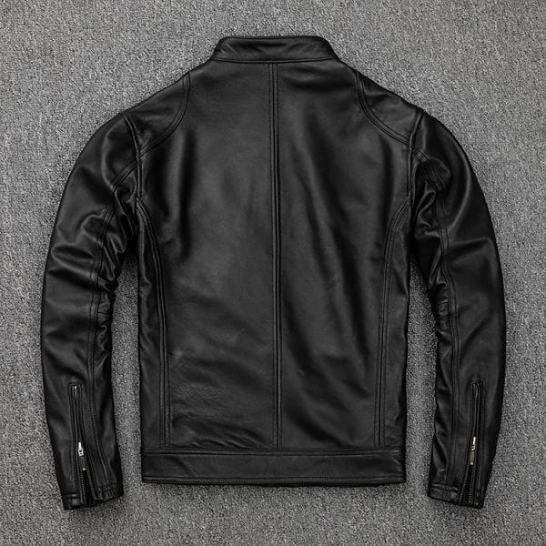 シープスキン スタンダードスタイル シングルライダース レザージャケット ブラック Mサイズ(36) イタリアンレザー ラム 羊革_画像2