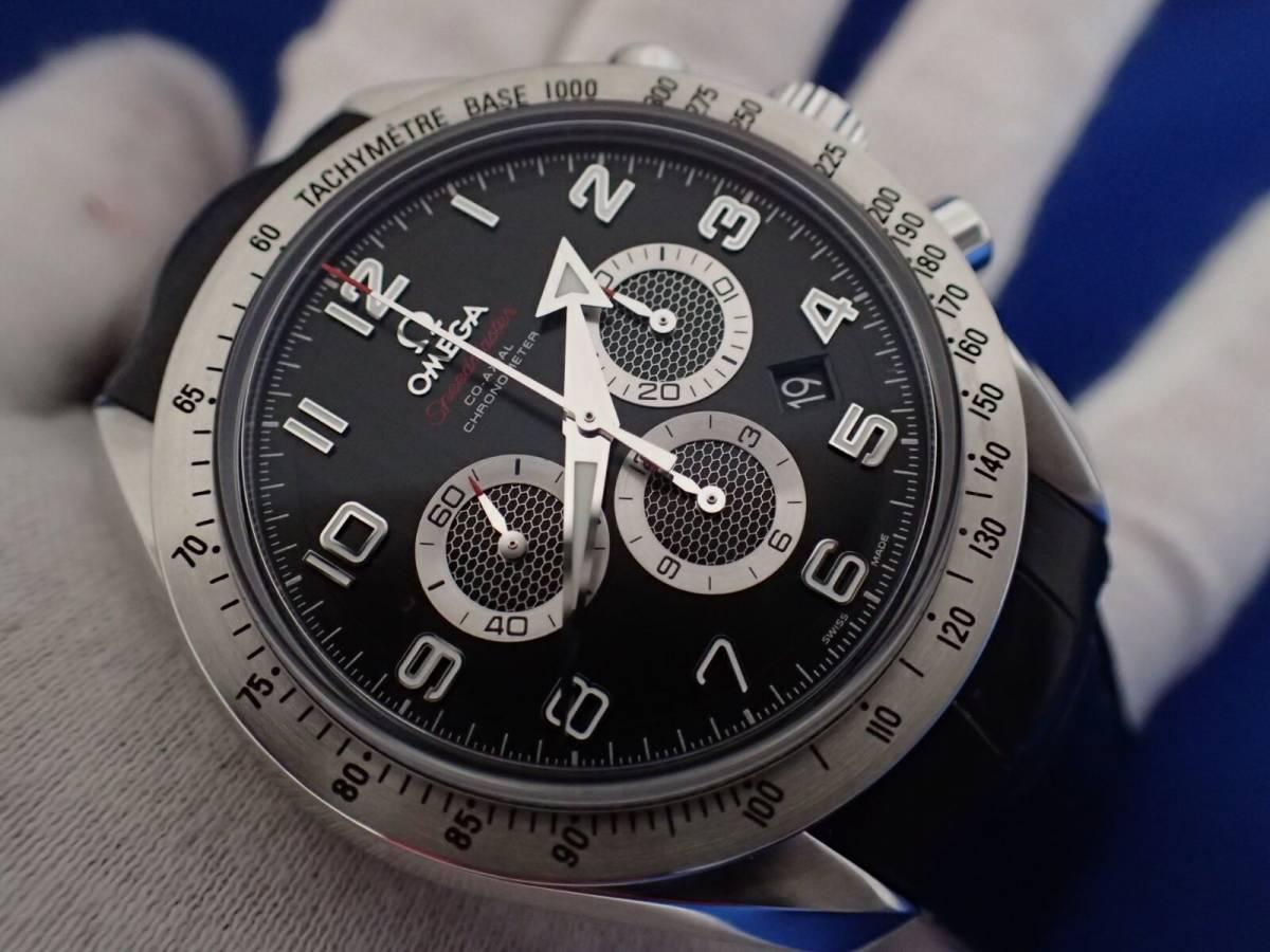 【送料無料】オメガ スピードマスター ブロードアロー 321.13.44.50.01.001 ブラック コーアクシャル メンズ 時計 _画像7