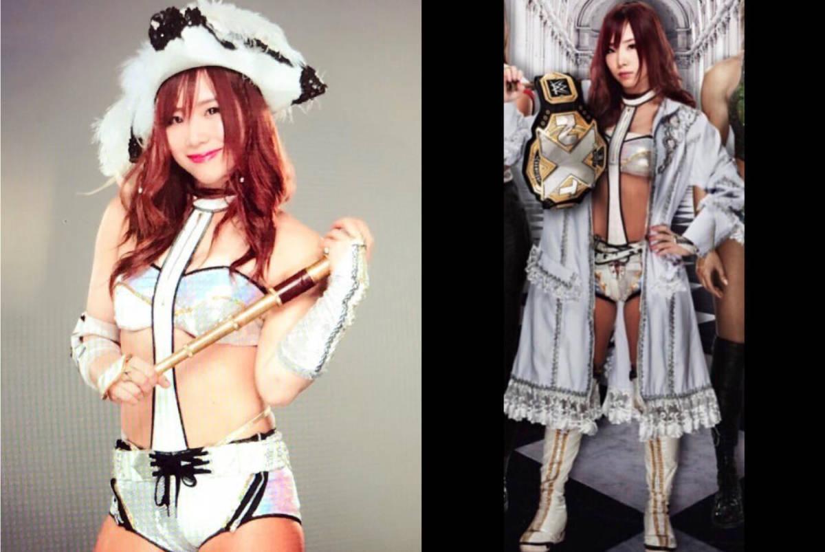 [チャリティ]WWEスーパースター カイリ・セイン サイン入り リングギア、エントランスマント、帽子の衣装一式_画像3
