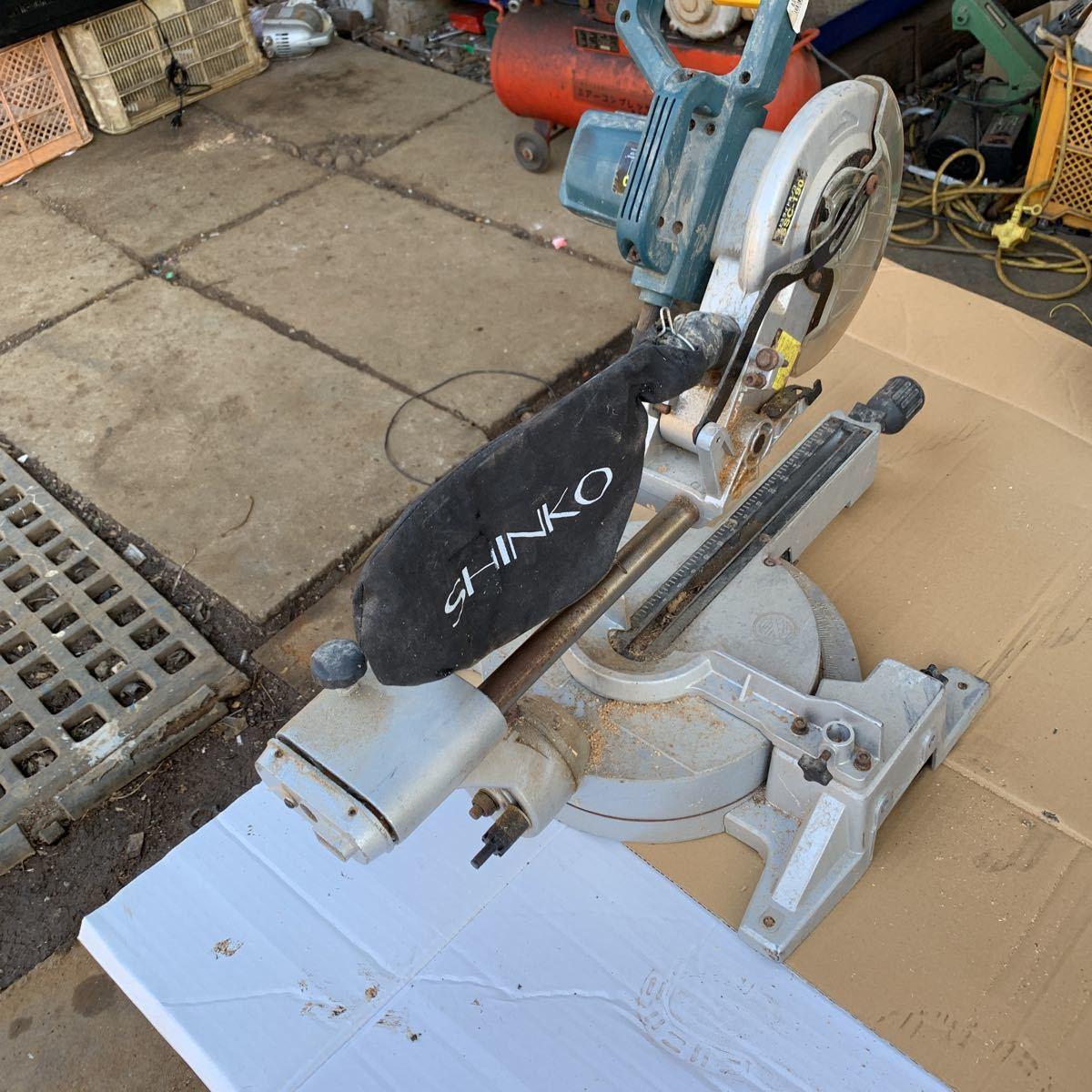 新興製作所 卓上スライド丸のこ SSC-190 作動品_画像4