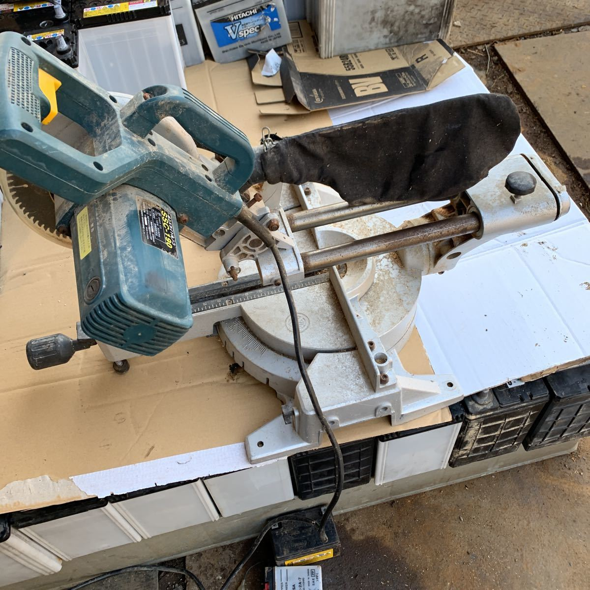 新興製作所 卓上スライド丸のこ SSC-190 作動品_画像3
