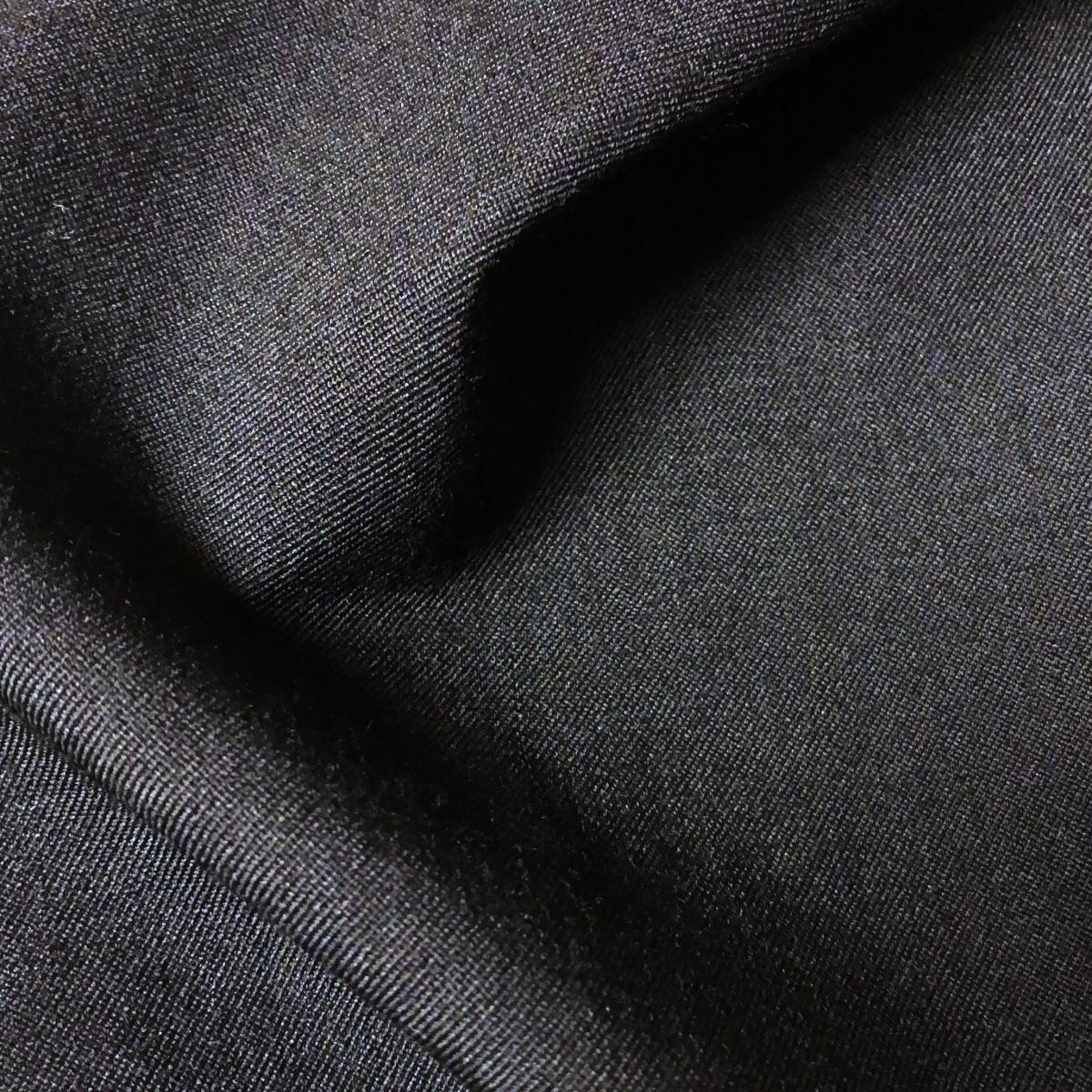 17SS YOHJI YAMAMOTO POUR HOMME ヨウジヤマモトプールオム ラップパンツ シワギャバ ウールギャバ ハーフパンツ H-右前垂らし布Pギャバ_シワギャバ生地感アップ。