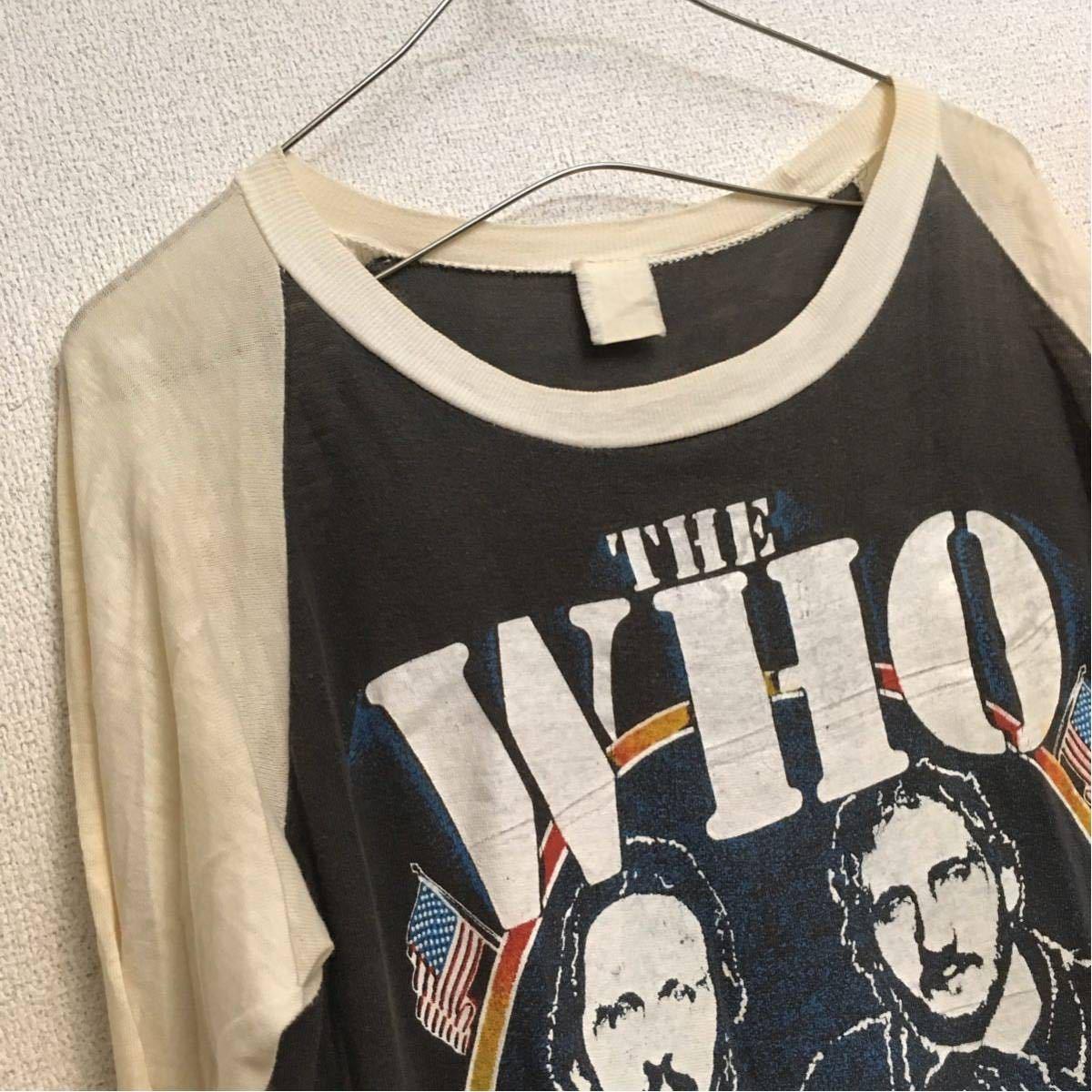 ビンテージ 80s ザフー Farewell US Tour ラグラン Tシャツ パキ綿 ロック バンド vintage the who beatles rolling stones nirvana_画像3