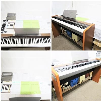 CASIO Privia カシオ プリヴィア 電子ピアノ PX-100 88鍵 ピアノ鍵盤 タッチレスポンス付 スタンド CS-55P 動作品 取説 フットペダル 002-8_画像2