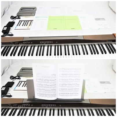 CASIO Privia カシオ プリヴィア 電子ピアノ PX-100 88鍵 ピアノ鍵盤 タッチレスポンス付 スタンド CS-55P 動作品 取説 フットペダル 002-8_画像3