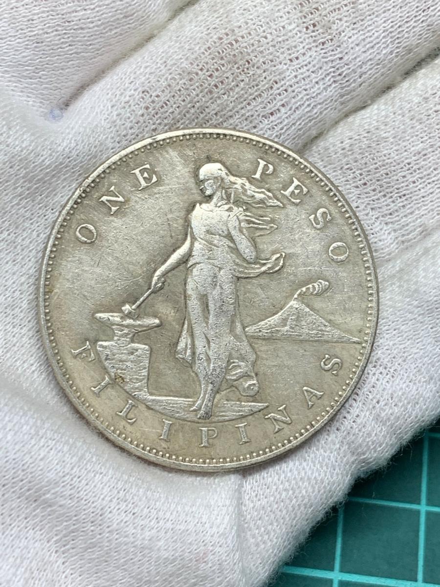 【Ωコイン】米国領 フィリピン ペソ 1907年 アメリカ 検)古銭硬貨貨幣銀貨系 レア記念 メダル 希少骨董 外国 レプリカ復刻 し28_画像4