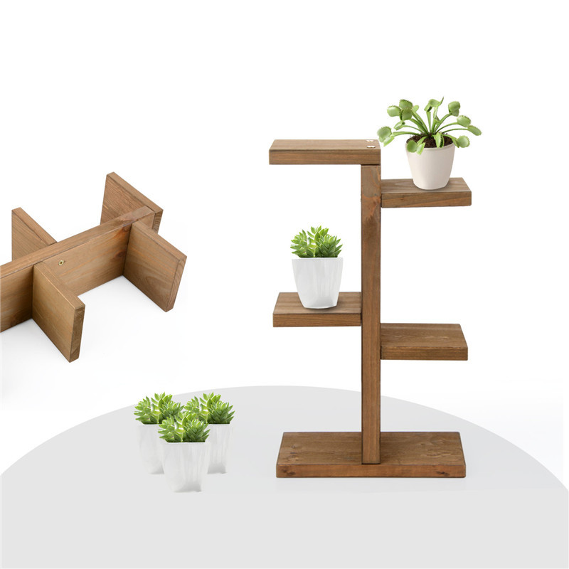 (*´з`)どんなお部屋もオシャレ・・★ミニ植物スタンド 観葉植物 多肉植物 インテリア 小物置きにも♪ DIY 【ブラウン】 it258_画像3