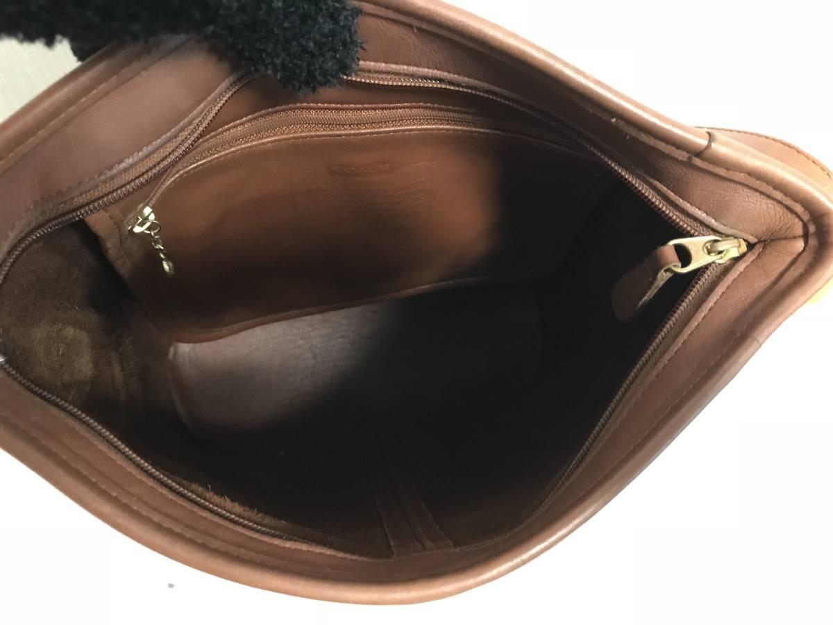 本物オールドコーチCOACH本革レザーショルダーボディバッグメッセンジャーバックブラウン茶メンズ旅行トラベルレディースアメリカ製