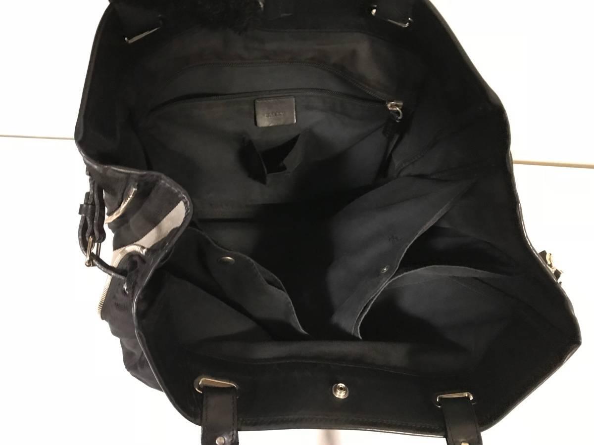 美品本物バリーBALLY本革レザーナイロンビジネストートバッグハンドボストンバック仕事トラベル旅行メンズレディース黒ブラックトレスポ
