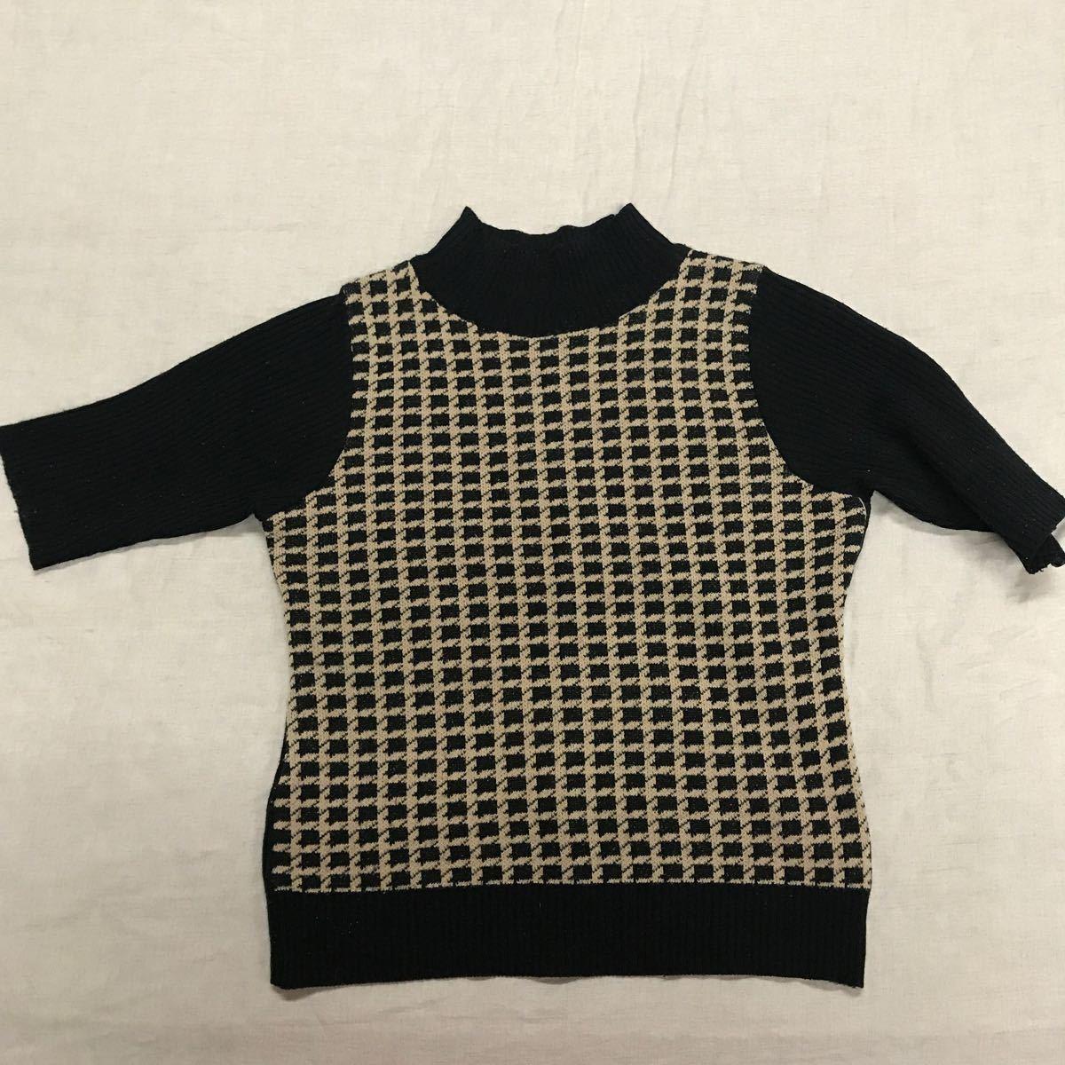 半袖ニットセーター