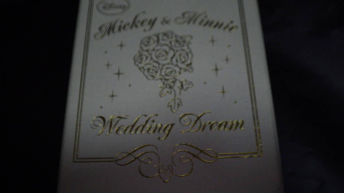 ミッキー&ミニー クリスタル 置時計 プレミアムクリスタルウエディングドリームVer2