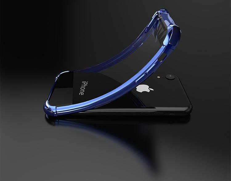 ピンクiPhoneXRソフトクリアケース TPU TPE耐衝撃 防塵 指紋防止 透明 ワイヤレス充電対応 軽量 薄型 一体型3_画像7