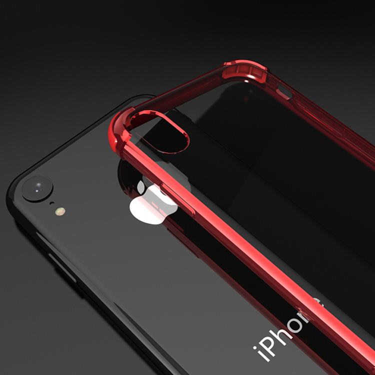ピンクiPhoneXRソフトクリアケース TPU TPE耐衝撃 防塵 指紋防止 透明 ワイヤレス充電対応 軽量 薄型 一体型3_画像6