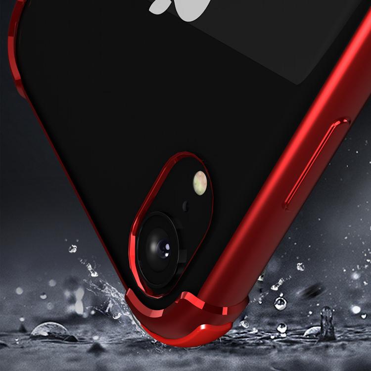 ピンクiPhoneXRソフトクリアケース TPU TPE耐衝撃 防塵 指紋防止 透明 ワイヤレス充電対応 軽量 薄型 一体型3_画像4