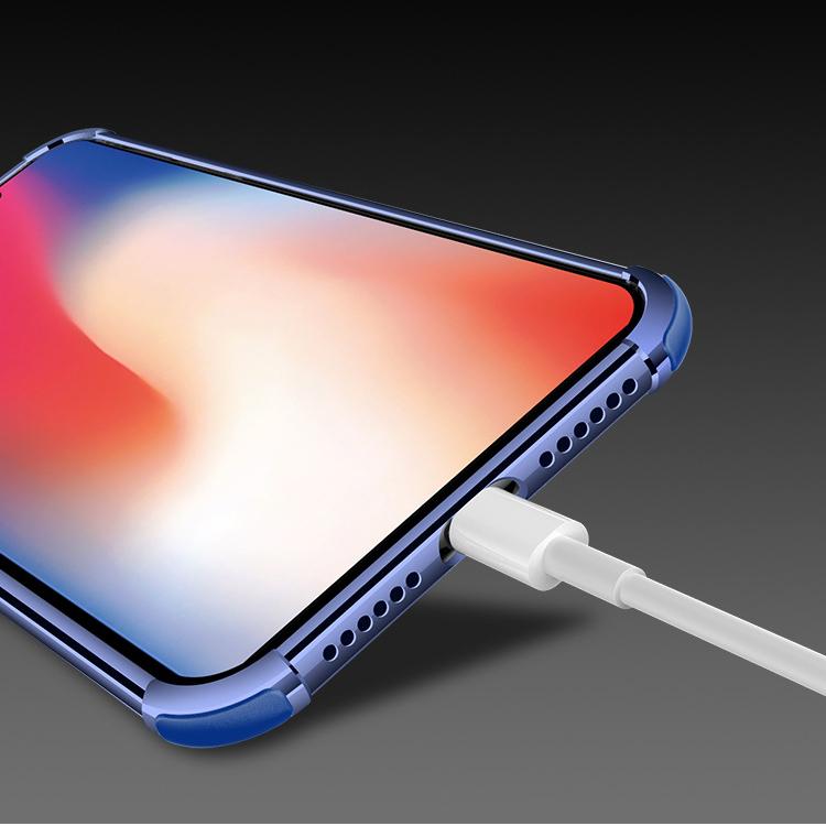 ピンクiPhoneXRソフトクリアケース TPU TPE耐衝撃 防塵 指紋防止 透明 ワイヤレス充電対応 軽量 薄型 一体型3_画像3
