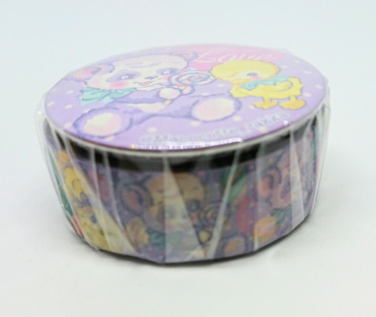 〈限定販売〉〈おまけ付き〉マココット・マスキングテープ(缶バッジ付き)/元スイマーデザイナー_画像4