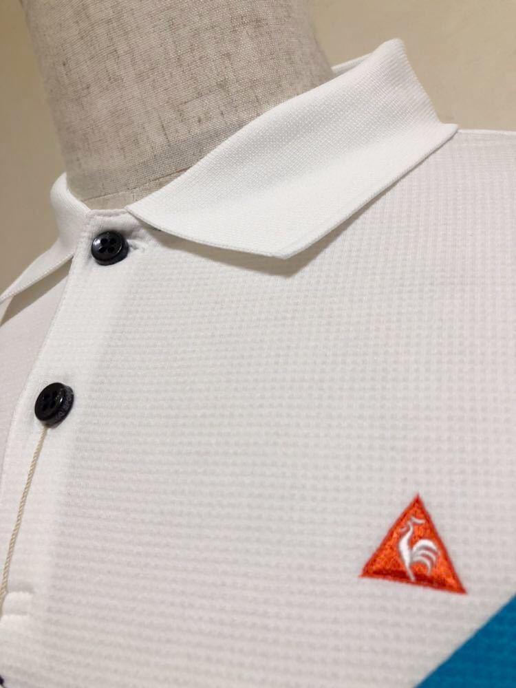 【新品】 le coq sportif GOLF COLLECTION ルコック ゴルフ コレクション ドライポロシャツ 吸汗速乾 ホワイト サイズL 半袖 QG2549 白_画像10