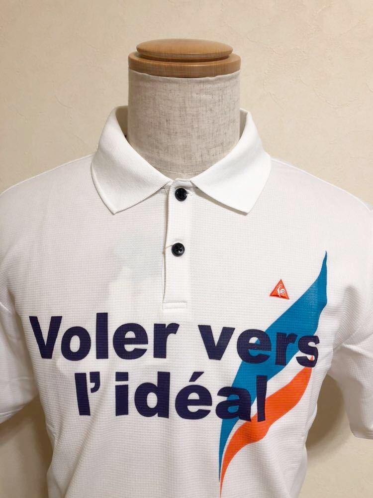 【新品】 le coq sportif GOLF COLLECTION ルコック ゴルフ コレクション ドライポロシャツ 吸汗速乾 ホワイト サイズL 半袖 QG2549 白_画像3
