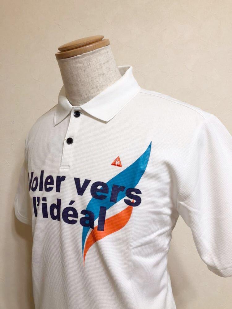 【新品】 le coq sportif GOLF COLLECTION ルコック ゴルフ コレクション ドライポロシャツ 吸汗速乾 ホワイト サイズL 半袖 QG2549 白_画像8