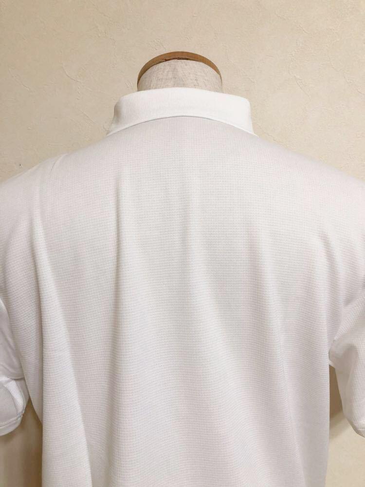 【新品】 le coq sportif GOLF COLLECTION ルコック ゴルフ コレクション ドライポロシャツ 吸汗速乾 ホワイト サイズL 半袖 QG2549 白_画像4