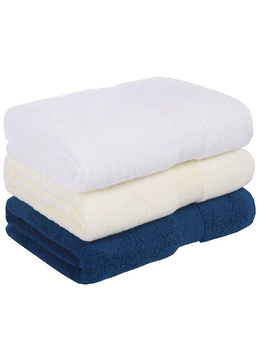 yaya textilel高級なホテルスタイル100%純綿バスタオル サイズ3枚セット ふわふわ 大判 柔らか肌触り 吸水速乾 重さ約380g/枚_画像1