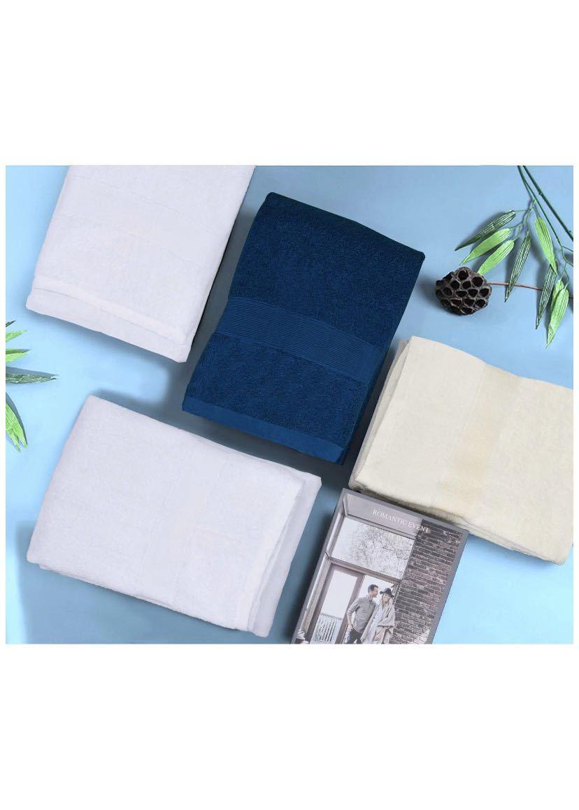 yaya textilel高級なホテルスタイル100%純綿バスタオル サイズ3枚セット ふわふわ 大判 柔らか肌触り 吸水速乾 重さ約380g/枚_画像2