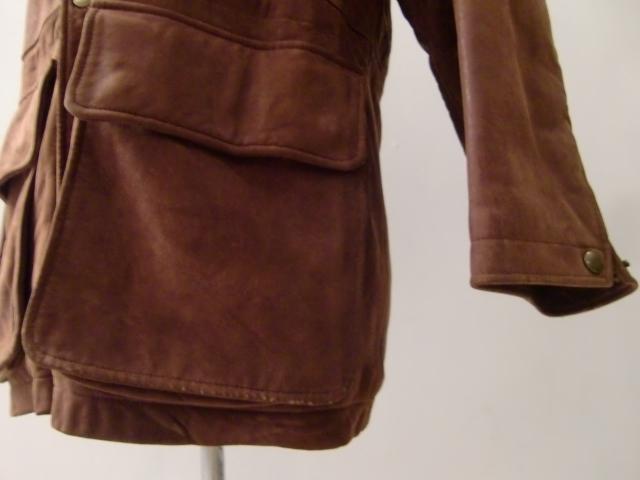 送料無料 アメリカ製 コーチ COACH スウェード レザー ハーフコート 皮 革 L~XL ヌバック スタンドカラー バルカラー ステンカラー U.S.A _画像5