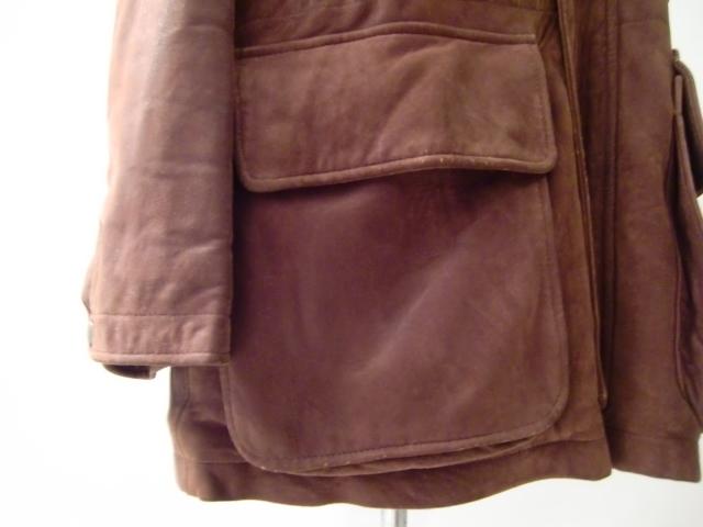 送料無料 アメリカ製 コーチ COACH スウェード レザー ハーフコート 皮 革 L~XL ヌバック スタンドカラー バルカラー ステンカラー U.S.A _画像8