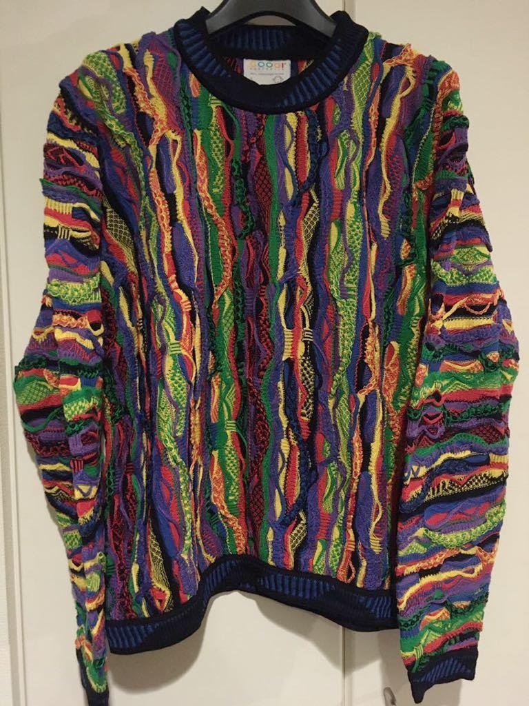 COOGI クージー 3Dニット セーター MADE IN AUSTRALIA 90's ヴィンテージ マルチカラー size.S