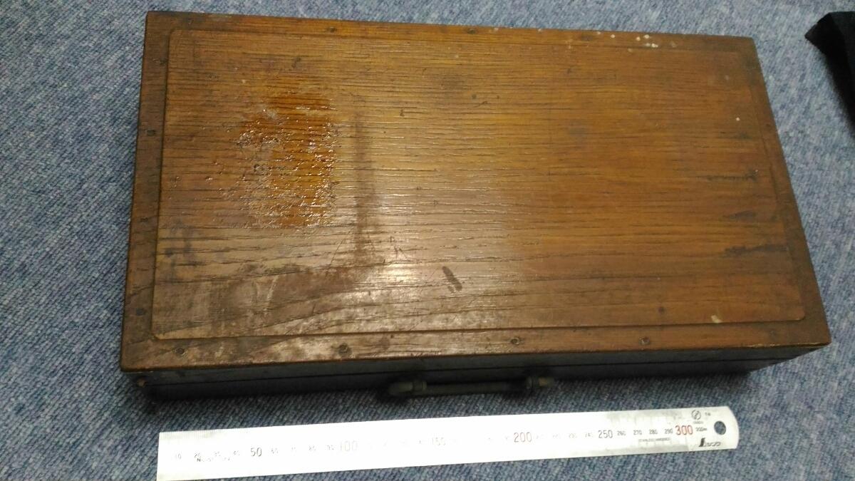 古い絵画用品 現状 インテリア レトロ 木箱 在庫処分 お得 売り切り○119_画像3