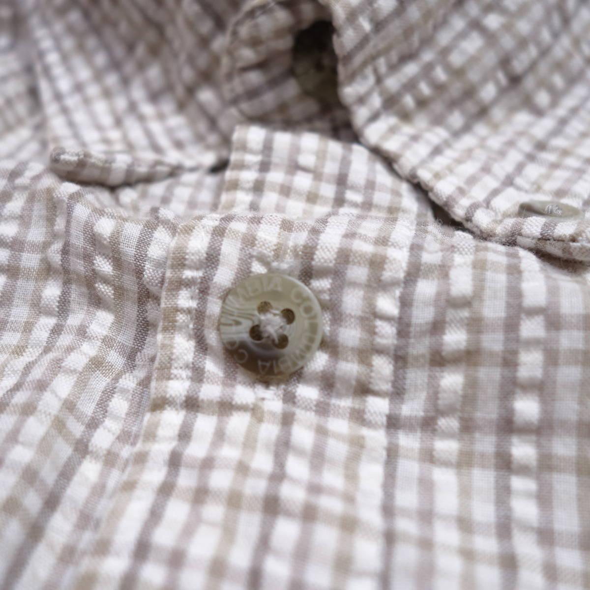 コロンビア Columbia チェックシャツ 半袖 メンズ XL 大きいサイズ ボタンダウン シワ加工 Yシャツ アメリカ USA直輸入 古着 MNO-3-6-0003_画像7