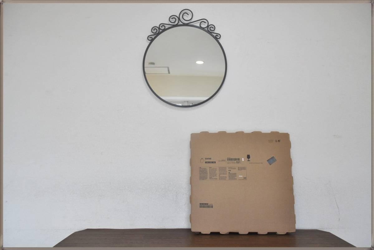 IKEA壁掛けミラーEbba Strandmark 100%無鉛コーティング鏡 EKNEデザイナー飛散防止フィルム貼り鏡イケア 新品・未使用_画像2