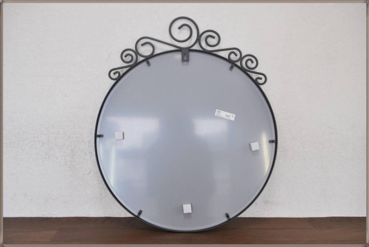 IKEA壁掛けミラーEbba Strandmark 100%無鉛コーティング鏡 EKNEデザイナー飛散防止フィルム貼り鏡イケア 新品・未使用_画像3