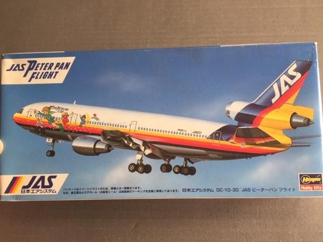 日本エアシステム DC-10 ピーターパン特別塗装機  1/200 ハセガワ