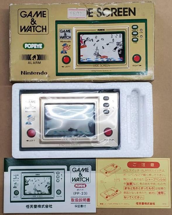 任天堂 Nintendo ニンテンドー ゲームウォッチ ポパイ POPEYE GAME&WATCH WIDE SCREEN 新品?#35789;?#29992;