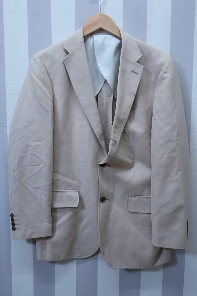 4-876/ユニクロ リネンブレンド レギュラーフィット 3Bテーラードジャケット UNIQLO_画像1