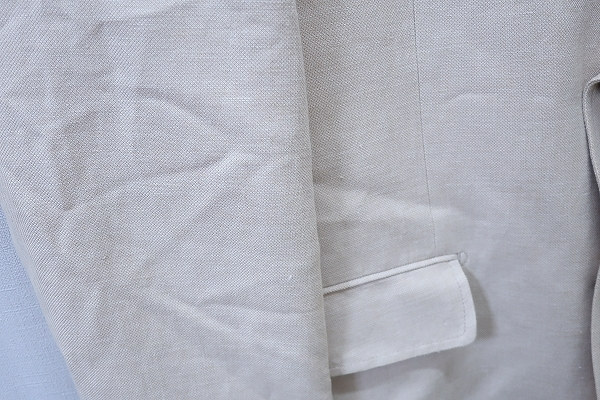 4-876/ユニクロ リネンブレンド レギュラーフィット 3Bテーラードジャケット UNIQLO_画像9