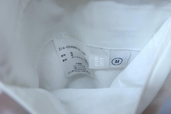 4-876/ユニクロ リネンブレンド レギュラーフィット 3Bテーラードジャケット UNIQLO_画像4