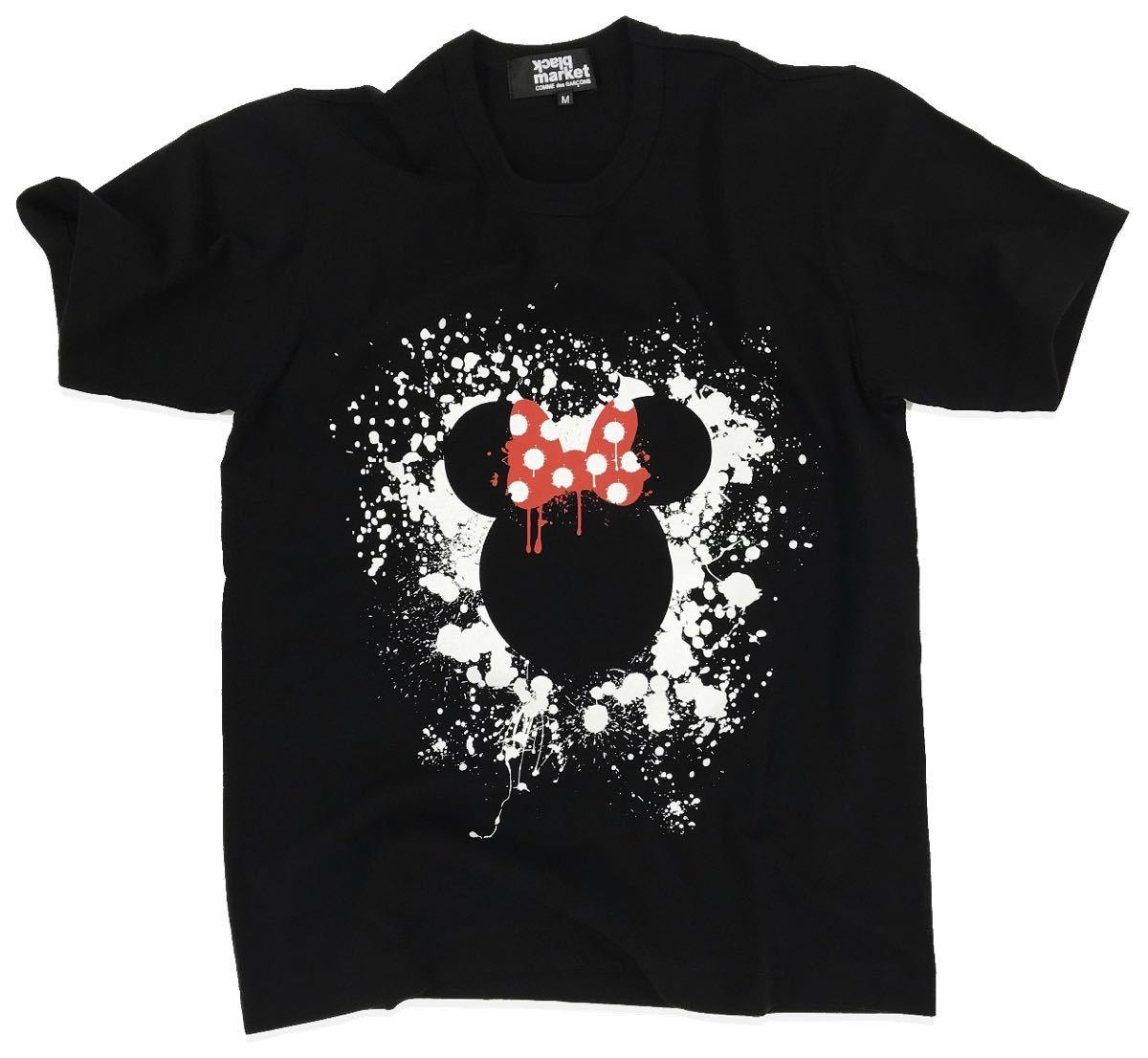 ブラックマーケットコムデギャルソン blackmarket COMME des GARCONS ミニーマウス 半袖Tシャツ M ブラックマーケット コムデギャルソン_画像1
