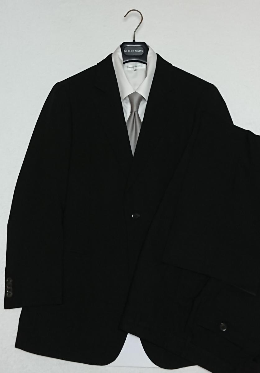 超美品【黒ラベル】GIORGIO ARMANI/ジョルジオ アルマーニ/黒系/ブラック系【シルク】ス